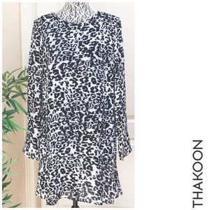 THAKOON Snow Leopard Mini Dress, 8